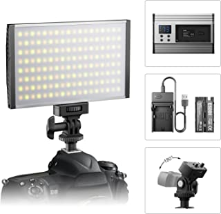 ESDDI LED Camera/Camcorder Video Light Panel for Lighting in Studio or Outdoors, 3200K to 5600K Variable Color Temperature, Ultra Thin Anodized Aluminum Housing for All DSLR Cameras