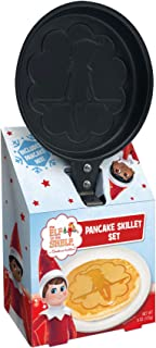 Christmas Breakfast Buttermilk Pancake Mix Gift Set Molded Skillet Makes Traditional Holiday Elf Sitting on Shelf Shaped P...