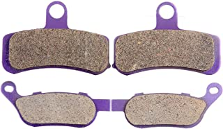 ECCPP FA457 Brake Pads Front and Rear Carbon Fiber Replacement Brake Pads Kits Fit for 2008-2011 Harley-Davidson