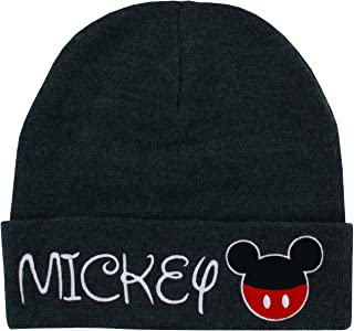 Mickey Mouse Disney Cuffed Knit Beanie Toque Grey Hat Winter Character Cartoon