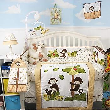 SoHo Baby Crib Bedding 10Pc Set, Coconut