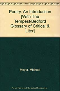 Poetry 5e & Bedford Glossary of Critical and Literary Terms 2e & Tempest