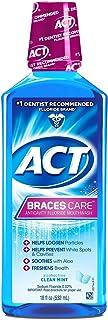 ACT Braces Care Ant-Cavity Fluoride Mouthwash, Clean Mint, 18 Fl Oz (Pack of 3)