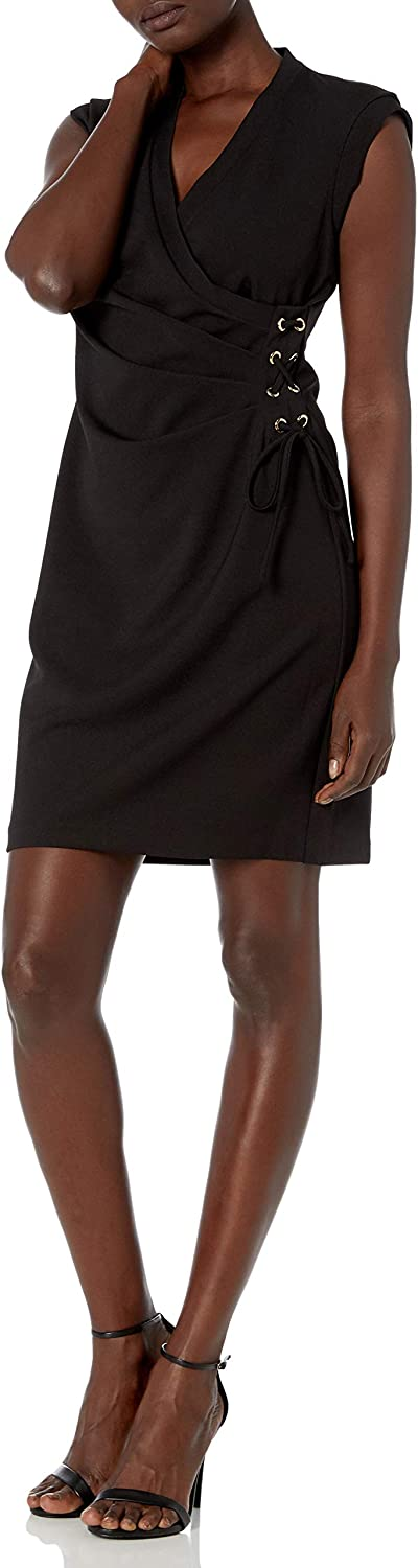 Anne Klein Women's Vneck Laceup Sheath Side Challenge Our shop most popular the lowest price of Japan ☆ Dress