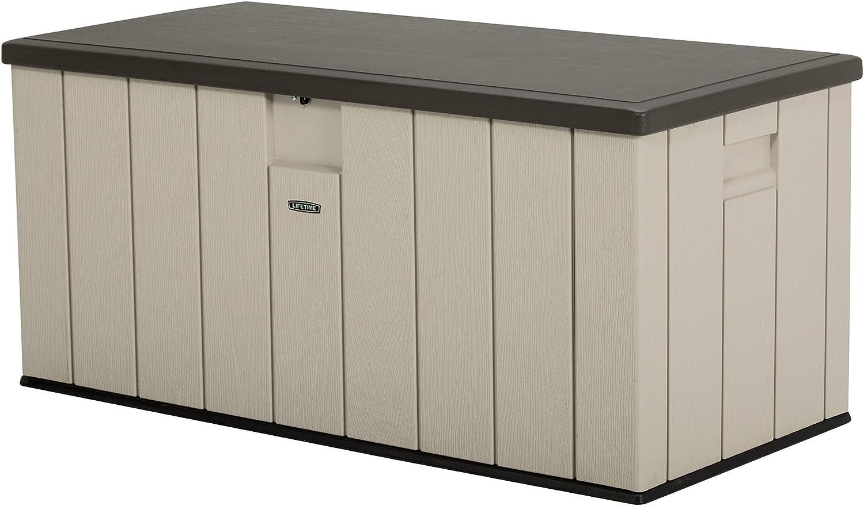 Lifetime Premium Kissenbox, Gartenbox und Auflagenbox 570l Volumen Sand