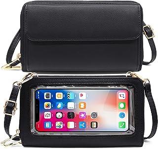 HNOOM Handytasche zum Umhängen Damen Handtasche Touchscreen Handytasche mit Geldbörse RFID Schutz Handy Geldbeutel Umhänge...