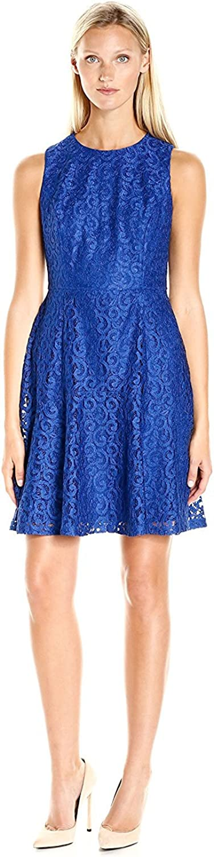 NINE WEST Women's Princess Seam Dress W/Flared Bottom