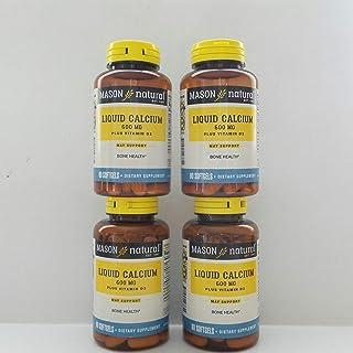 Mason Natural Liquid Calcium With Vitamin D Softgels 60 ea (Pack of 4)