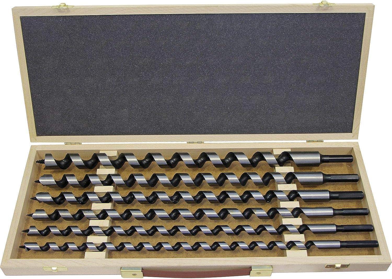 FISCH 00800006K4604 Schlangenbohrer-Kassette Länge 460 mm 6-teilig in Holzkassette B07J5YS7LK | Neuheit Spielzeug