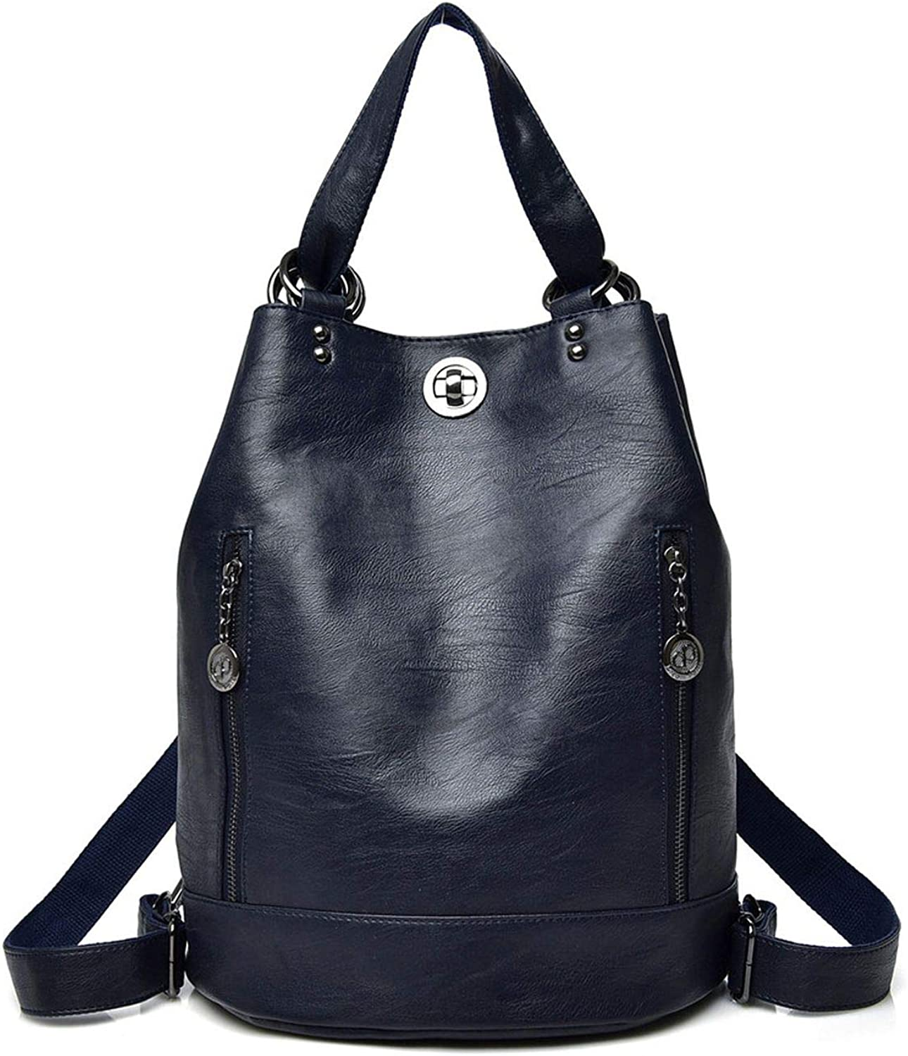 Backpack Women Casual Leather Backpack,blueee