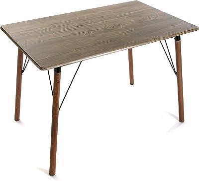 Versa 20880055 Table de Salle à Manger Lansing, Bois et métal, Marron, 75 x 70 x 110 cm