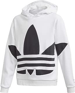 Adidas Originals Felpa Da Ragazzi Con Cappuccio Big Trefoil Nera Taglia 9 10 A C