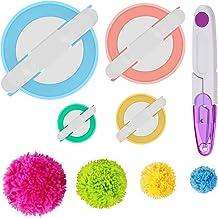 Pom Pom Maker Kits (4 Size), Pompom Maker Tool Set for Fluff Ball Weave Needle Craft DIY Wool Yarn Knitting Craft Project ...