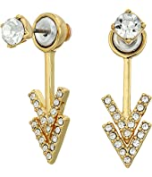 Rebecca Minkoff - Stud Double V Front Back Earrings