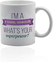 School counselor mug 11 oz. white ceramic cup. School counselor gifts.