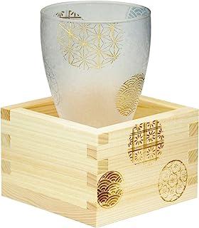 アデリア 日本酒 グラス 枡付き 丸紋 100ml プレミアムニッポンテイスト 日本製 6601
