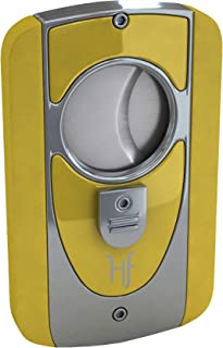 BL Blade3 Double Blade Metallic Cigar Cutter up to 60 Ring Gauge Cigars (Yellow)