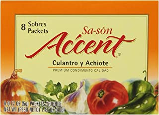 Sa-son Accent Seasoning with Culantro y Achiote, 8 Packets (Pack of 36)
