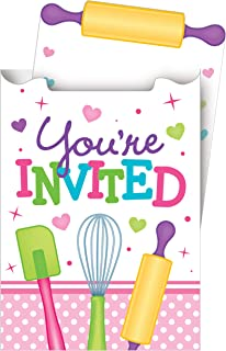 8-Count Pop-up Party Invitations, Little Chef