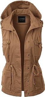 73492aa70786b LE3NO Womens Lightweight Sleeveless Military Anorak Vest