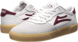 White/Burgundy Leather