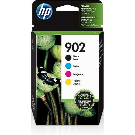 HP 902   4 Ink Cartridges   Black, Cyan, Magenta, Yellow   Works with HP OfficeJet 6900 Series, HP OfficeJet Pro 6900 Series   T6L98AN, T6L86AN, T6L90AN, T6L94AN