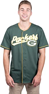 Ultra Game NFL Men's Mesh Baseball Jersey Tee Shirt