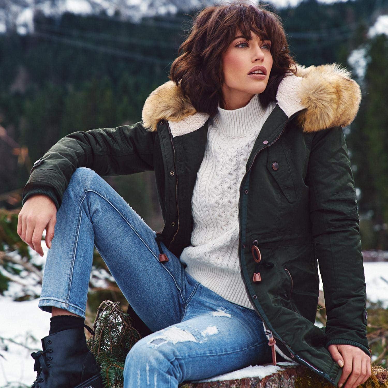Navahoo Damen Winter Mantel Winterparka La Viva XS-3XL Anthrazit