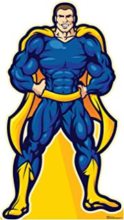 Advanced Graphics Super Hero in Blue Life Size Cardboard Cutout Standup