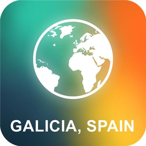 Galicia, España Offline Mapa