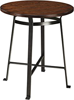 Ashley Furniture Signature Design - Challiman Dining Room Bar Table - Counter Height - Round - Rustic Brown