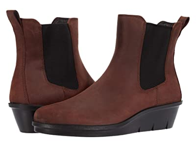ECCO Skyler Wedge Chelsea Boot (Chocolate) Women