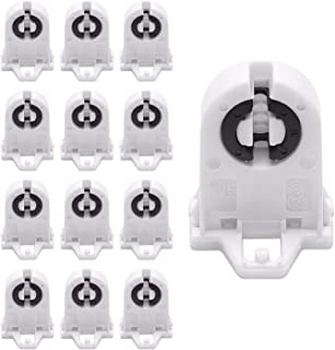 Screw Type T8 Lamp Holder JACKYLED 12-Pack UL Non-shunted Light Socket For LED Fluorescent Tube Replacements