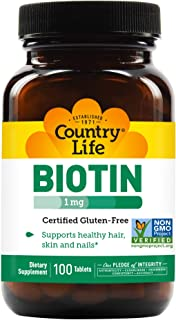 Country Life Biotin 1000 mcg, 100 Tablets
