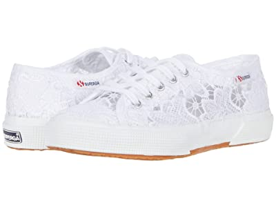 Superga Kids 2750 Macramej(Toddler/Little Kid/Big Kid) (White) Kids Shoes
