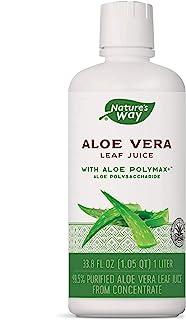 Nature's Way Aloe Vera Leaf Juice 99.5% Purified Aloe Vera Leaf Juice, 1 Liter (33.8 Fl Oz.), 33.8 Fluid Ounce
