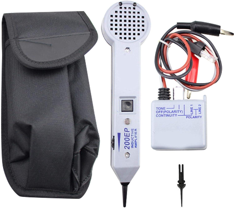 Tongdejing - Comprobador de cable de rastreador de amplificador inductivo 200EP, kit de rastreo de tonalidad profesional para el hogar
