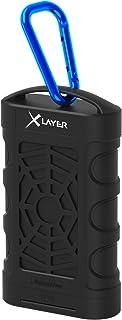 XLayer Powerbank PLUS Outdoor 10.050 mAh, Externer Akku für Smartphone und Tablet, stoßfest, wasser  und staubdicht nach IP68, Schwarz