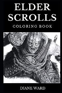 Elder Scrolls Coloring Book: Legendary Oblivion and Skyrim Open World RPG Story, Dragonborn and Fantasy Art Inspired Adult Coloring Book (Elder Scrolls Books)