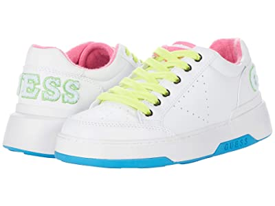 GUESS Marvyn (White/Neon Pink) Women