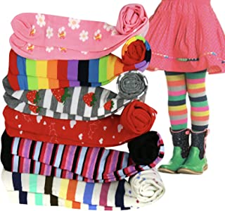 ToBeInStyle Girls' Pack of 6 Full Foot Winter Tights