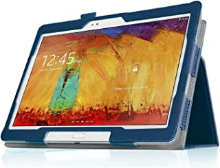 Topratesell SlimBook Leather Folio Stand Case Cover for Samsung Galaxy Note 10.1 2014 Edition & Tab PRO 10.1-10.1'' Android Tablet (Deep Blue)