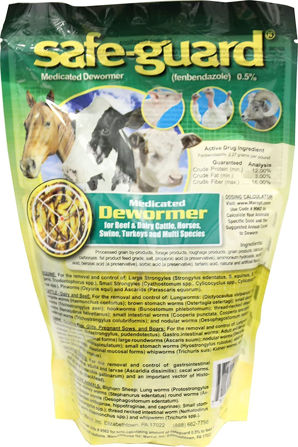 Merck Animal Sale SALE% OFF Health Mfg-Safeguard .5% All stores are sold Wormer 1 Lb Multi-Species
