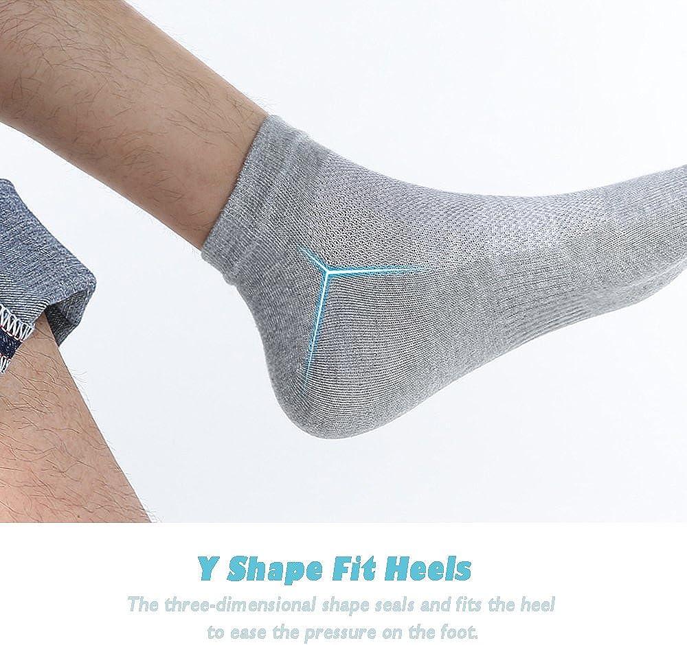 MOAMUN 5 Pairs Men Toe Socks Five Finger Socks Cotton Soft and Breathable Low Cut Socks for Men (Black)