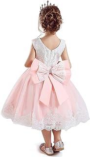 NNJXD Vestido de Tul de Flores de Novia y Princesa para Bebés y Niñas