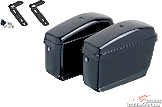 Customacces AZ0553N Hard Saddlebags Easy (Pair) 12L. + Mounting Kit Indian Scout Bobber '18
