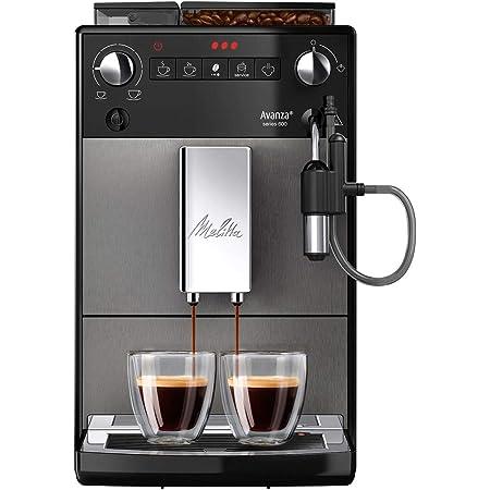Melitta, Avanza, Noir, F270-100 Machine à Café et Expresso Automatique avec Broyeur à Grains, Mousseur à Lait Intégré, Compacte, Silencieuse