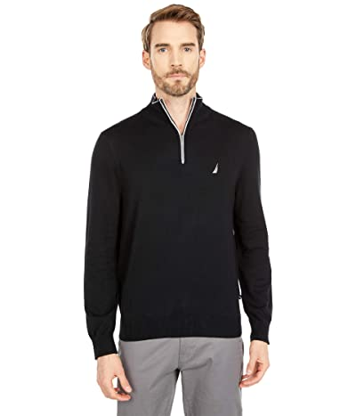 Nautica Navtech 1/4 Zip Sweater (True Black) Men