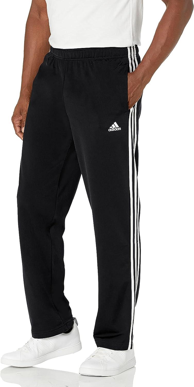 adidas Men's Essentials Warm-up Open Hem 3-Stripes Tracksuit Bottoms