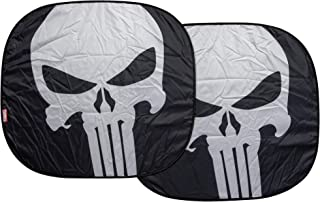 Plasticolor 003902R01 Marvel The Punisher Logo Finish Car Truck or SUV Front Windshield Spring Sunshade